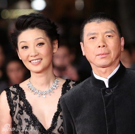 Xu Fan (L) and Feng Xiaogang arrive on the red carpet during the opening of the 7th annual Rome International Film Festival in Rome on November 9, 2012.   UPI/David Silpa Photo via Newscom