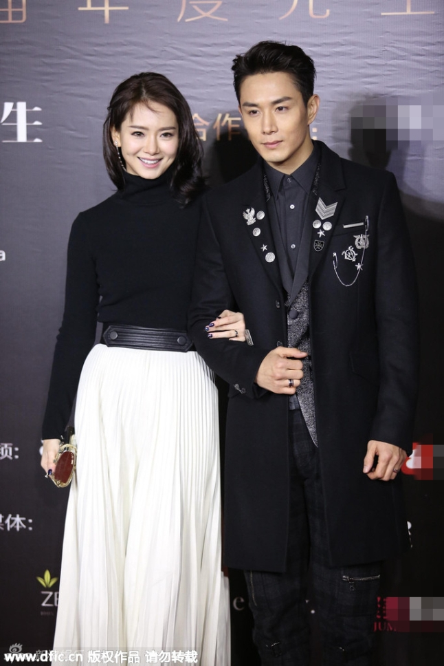 Qi Wei and hubby Lee Seung hyun