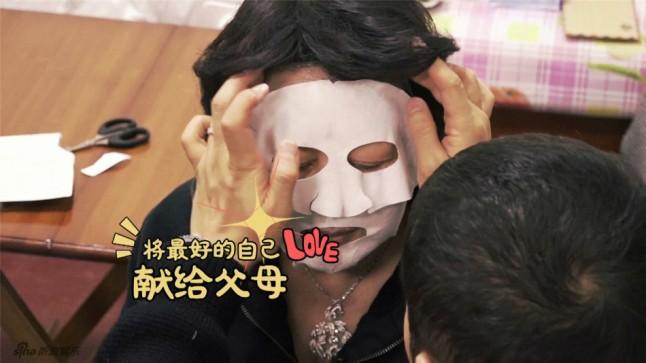 Applying mask for mommy <3